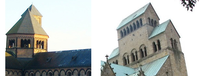 Zdjęcia przedstawiają bezokapową architekturę sakralną