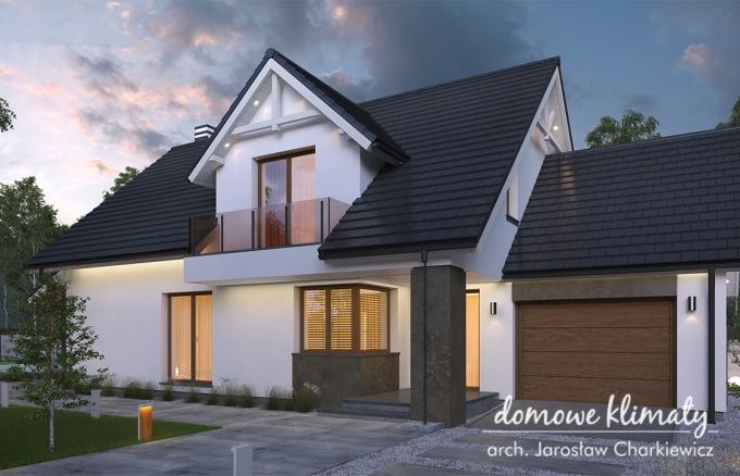 Projekt domu Akord VI G, wizualizacja 1