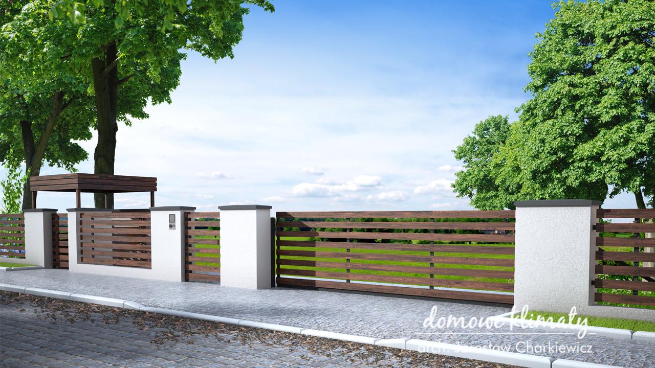 Projekt domu - ogrodzenie O-2