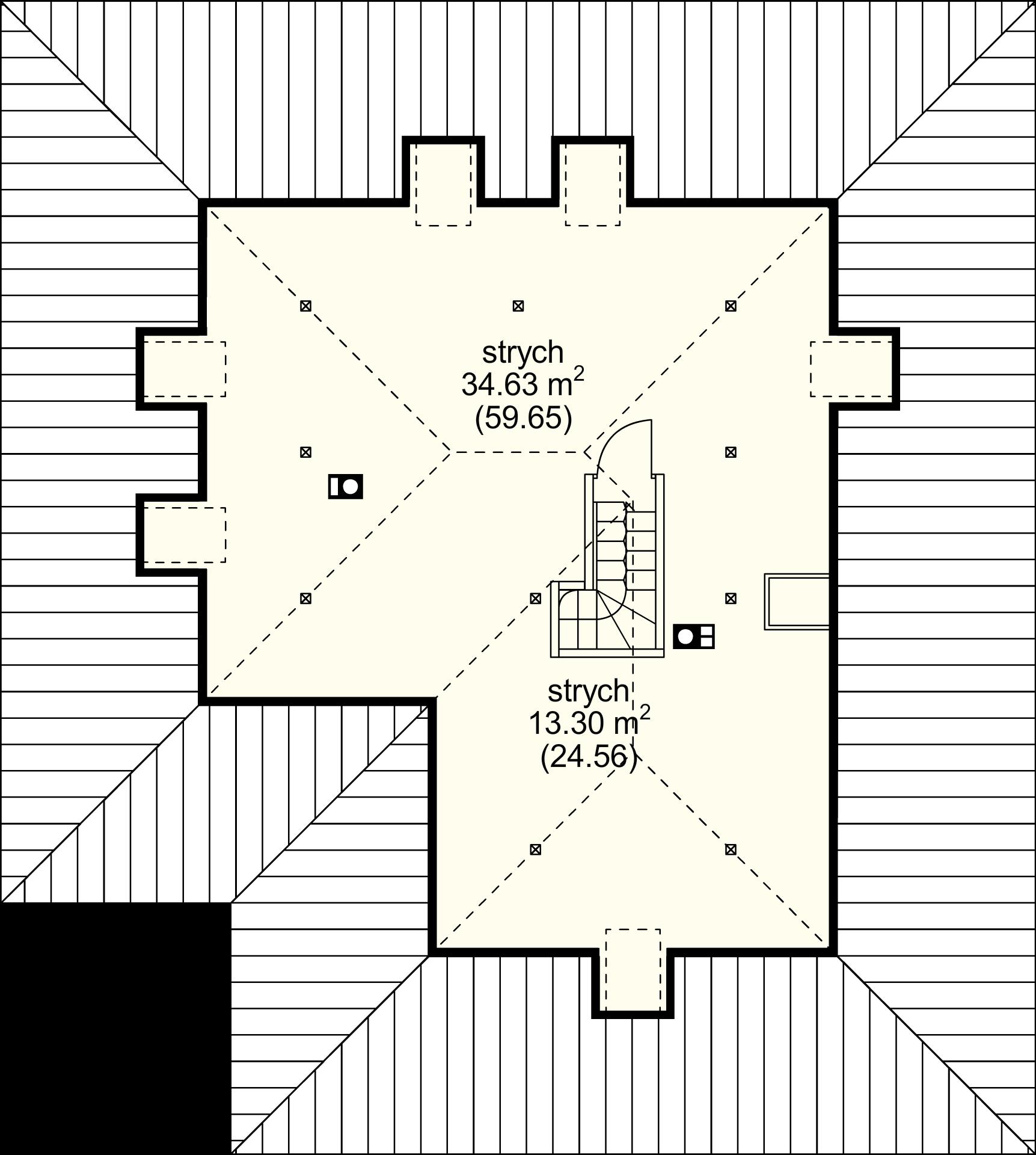 Strych (przykładowa aranżacja)