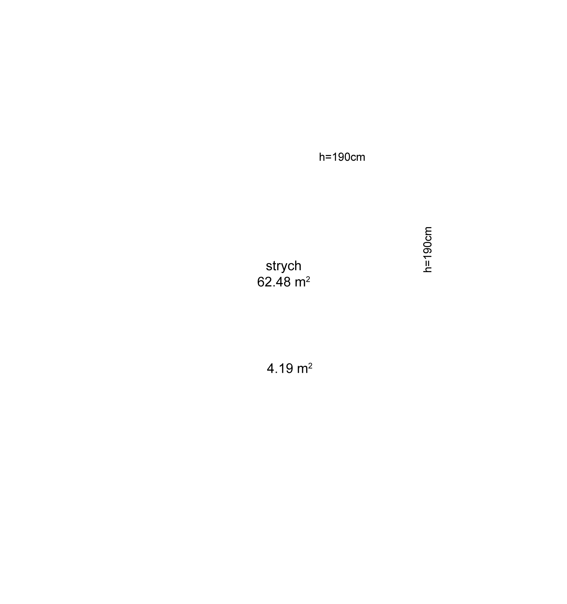 Rzut kondygnacji - powierzchnie pomieszczeń