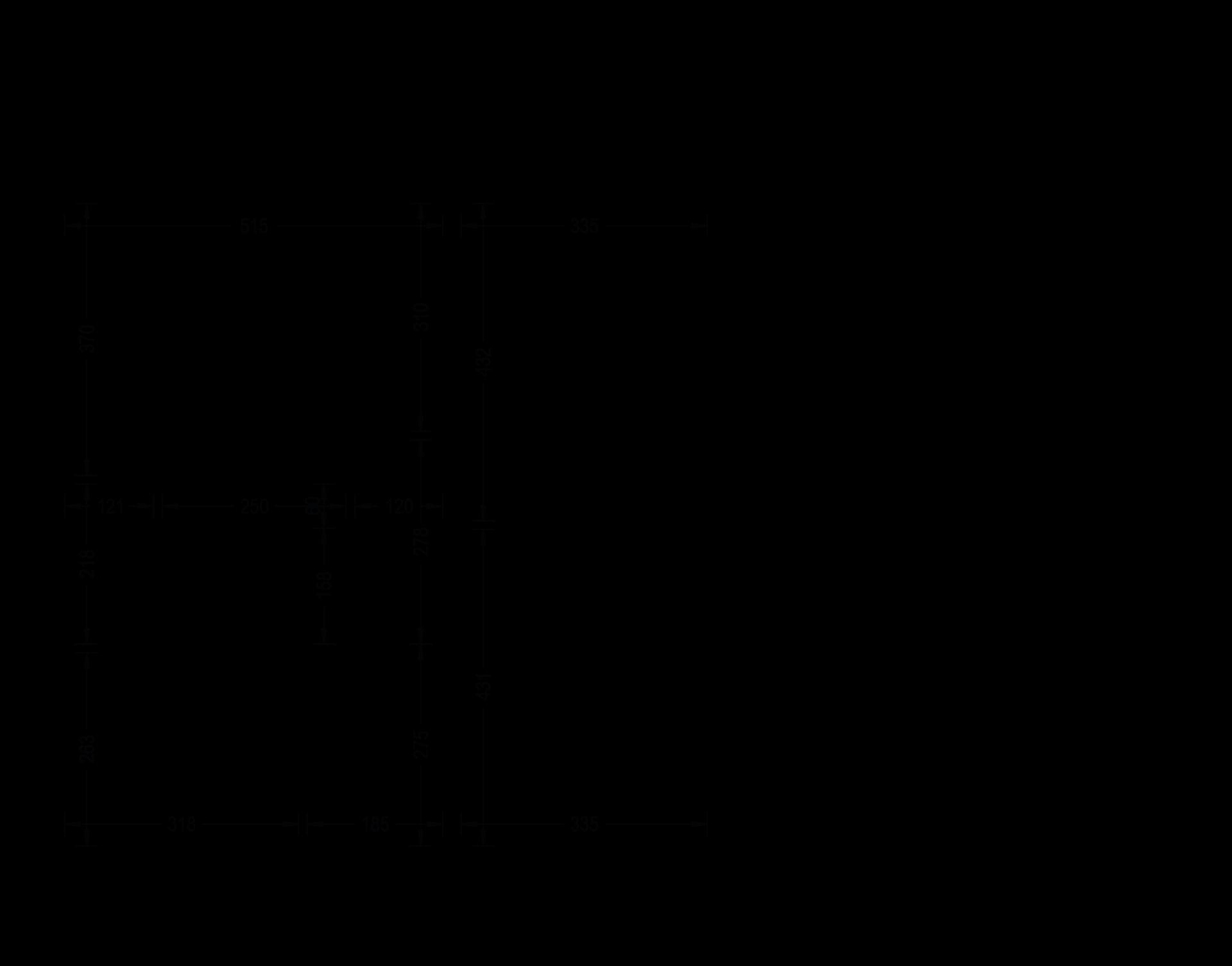Rzut kondygnacji - wymiary ścian