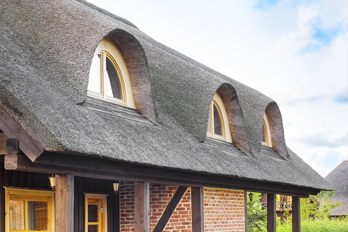 Wole oko na dachu projektu domu