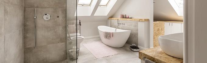 Łazienka w domu z poddaszem użytkowym