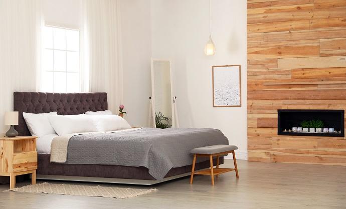 Mała sypialnia w stylu skandynawskim