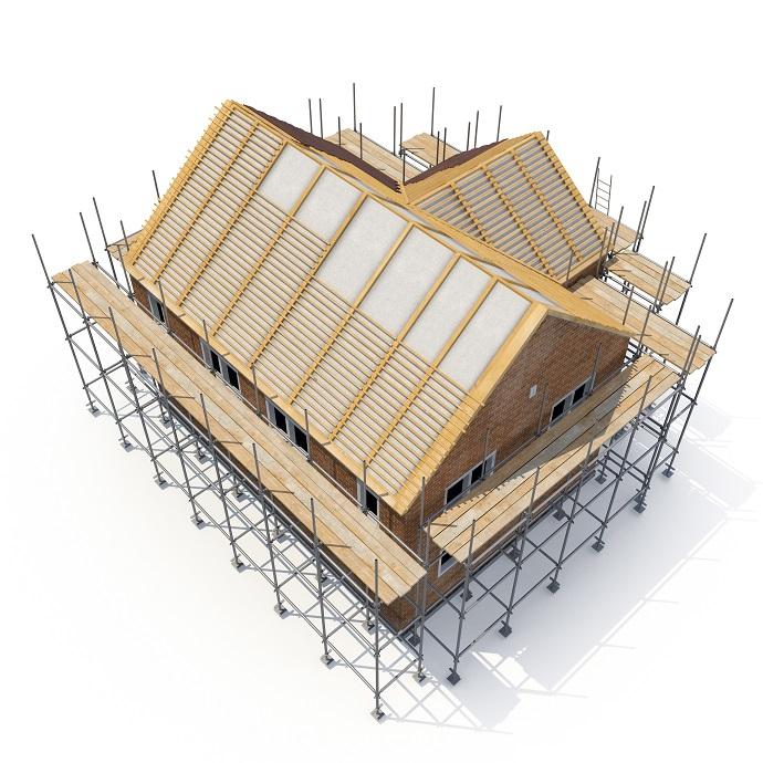 Wykonanie deskowania na dachu z łat i kontrłat