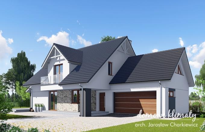 Projekt domu Akord 10, wizualizacja 1