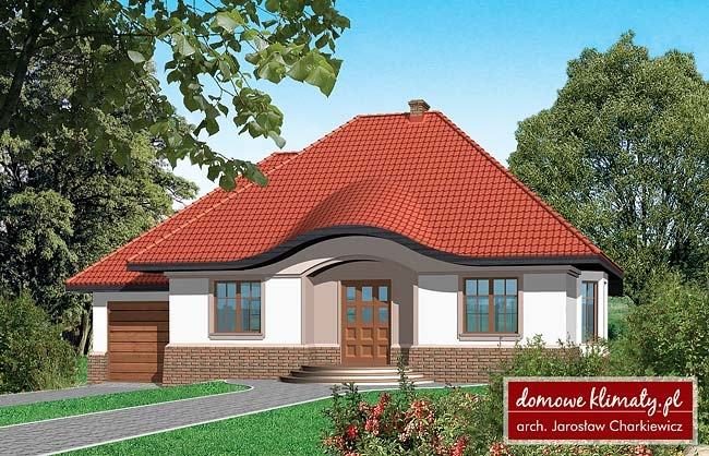 Projekt domu Słobódka, wizualizacja 1