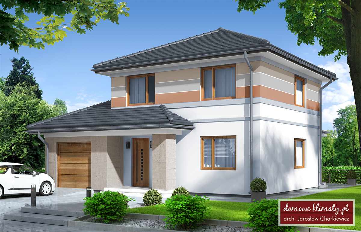 House design lisek g nf40 m domowe klimaty - House plans for young couples energetic designs ...