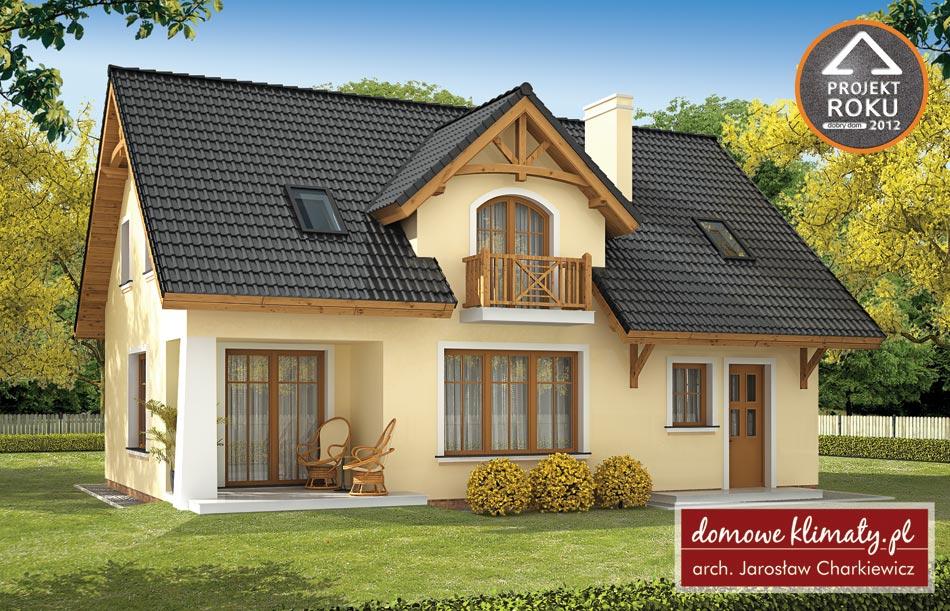 Projekt Domu Bławatek 10861 M² Domowe Klimaty
