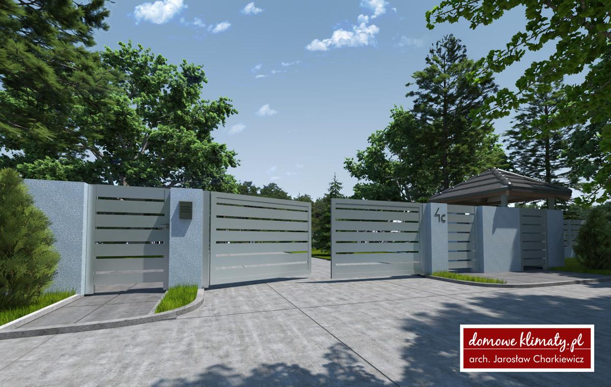 Projekt Domu Ogrodzenie O 4 0 00 M Domowe Klimaty