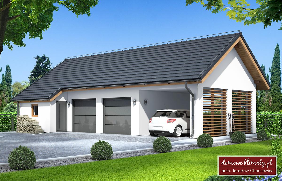 Projekt Garaż Gw 3 7596 M² Domowe Klimaty