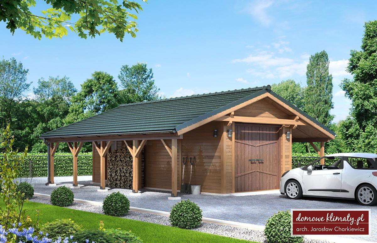 Design Garaż GW-2 29.72 m² - Domowe Klimaty