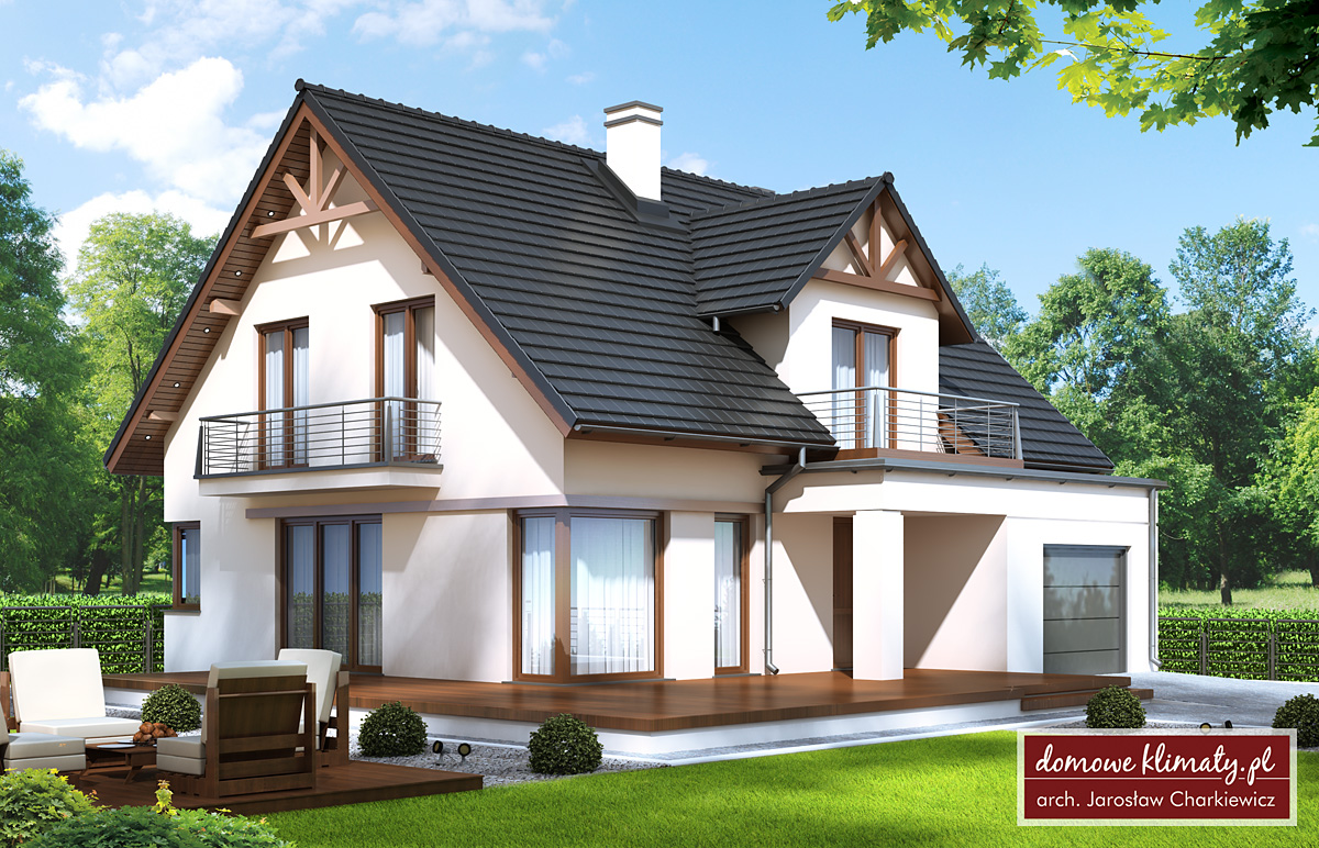 Projekt domu helios ii m domowe klimaty for Simple attic design
