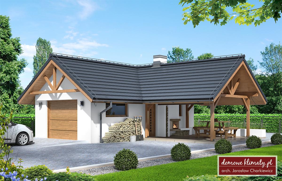 Projekt Garaż Z Wiatą Gw 1 3277 M² Domowe Klimaty